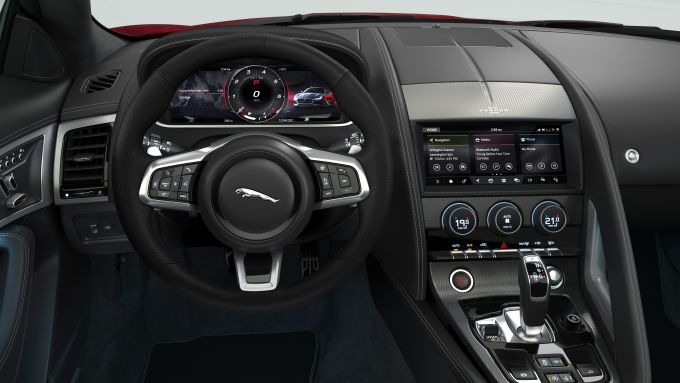 Jaguar F-Typer R-Dynamic Black: la plancia