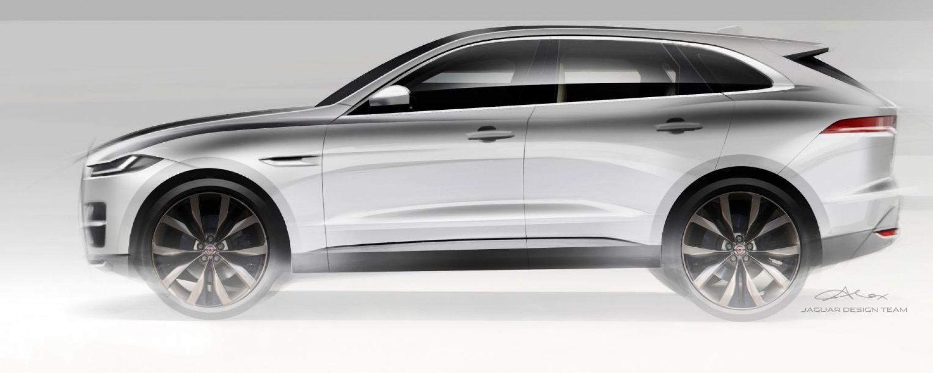 Jaguar J-Pace: l'ammiraglia-SUV sarà ibrida plug-in