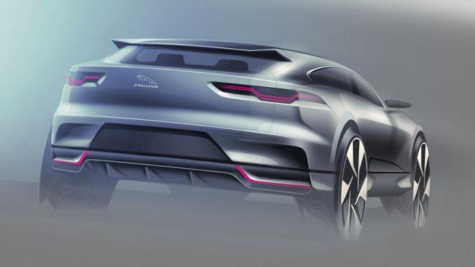 Jaguar J-Pace: i bozzetti mostrati dal sito americano CarBuzz.com