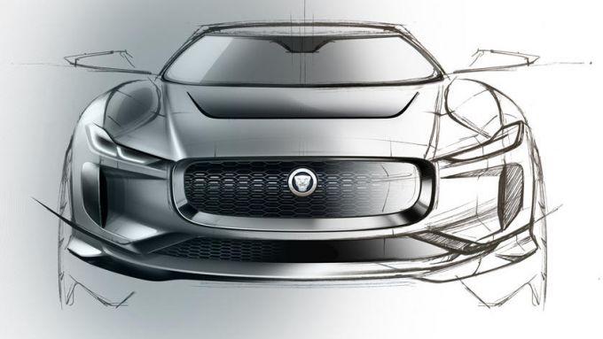 Jaguar J-Pace: il design appuntito riprende alcuni dettagli della i-Pace