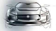 Jaguar J Pace: un bozzetto del frontale