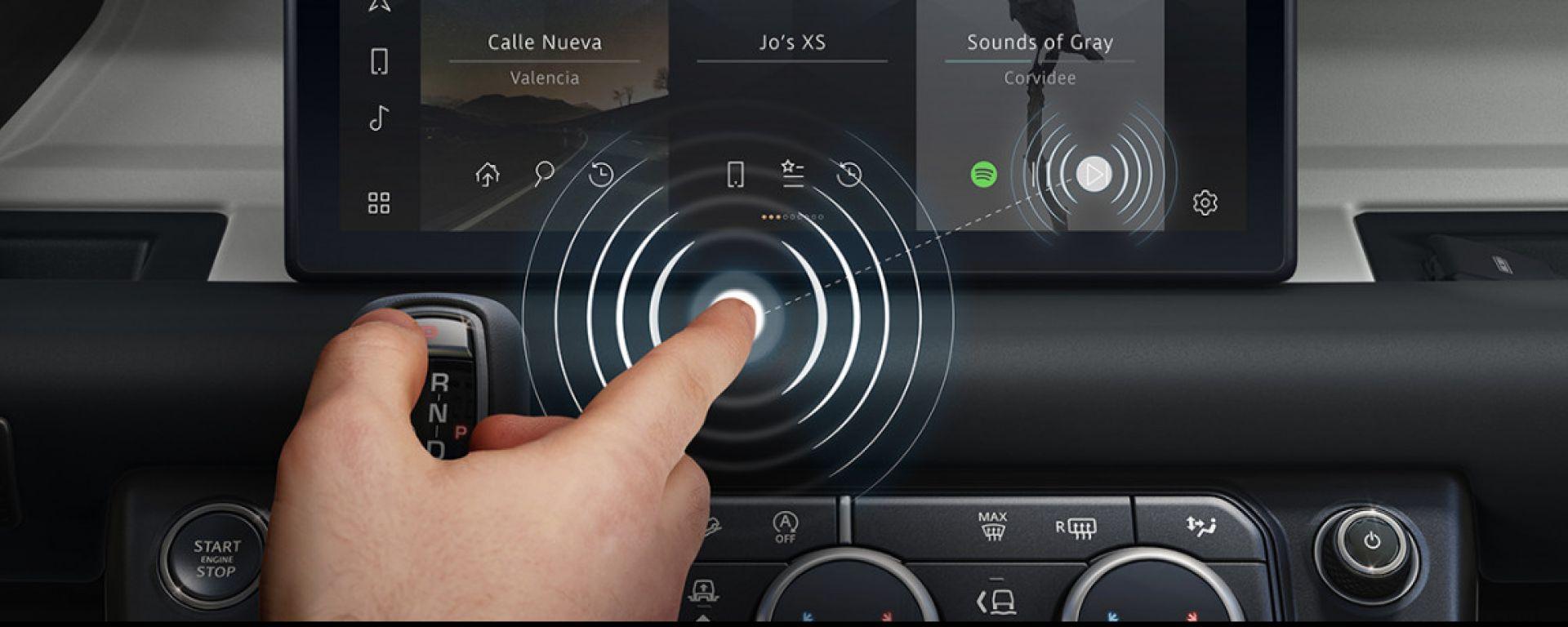 Jaguar Land Rover e il touchscreen contactless anti Covid