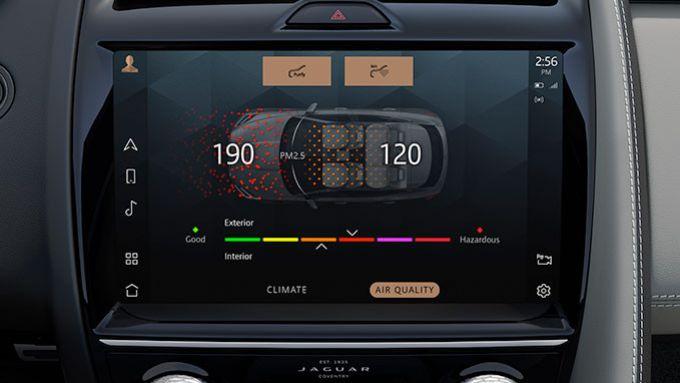 Jaguar Land Rover gamma elettrificata: il sistema di ionizzazione dell'abitacolo opzionale