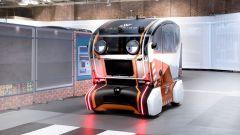 Jaguar Land Rover Virtual Eye Pod nella città simulata riprodotta a Coventry