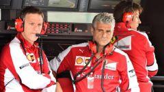 James Allison  e Maurizio Arrivabene al muretto box Ferrari