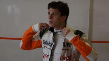 James Calado nel 2013 ai tempi della Force India