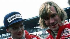 James Hunt e Niki Lauda, rivali nell'epica stagione iridata 1976