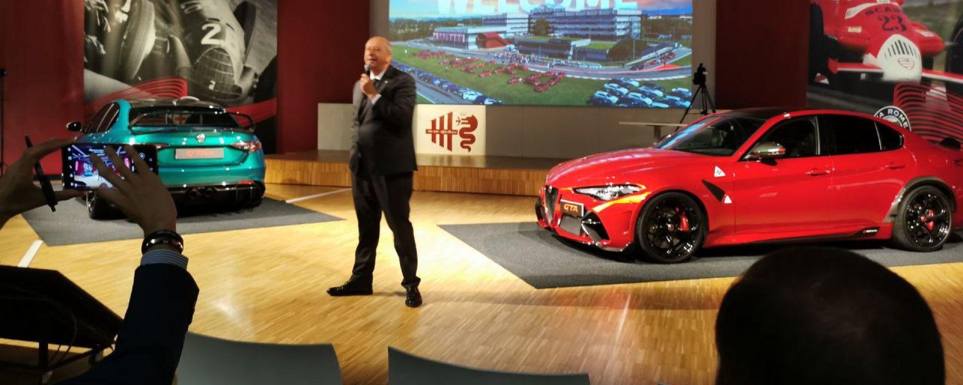 Jean-Philippe Imparato alla consegna delle prime Alfa Romeo Giulia GTA e GTAm