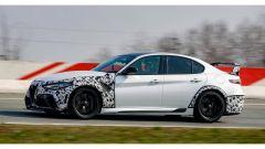 Jean-Philippe Imparato prova la Giulia GTAm: un momento del test in pista