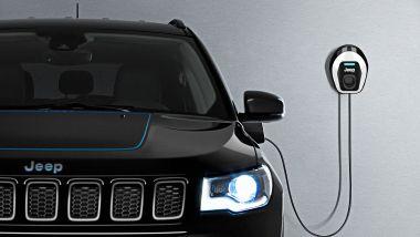 Jeep Compass 4xe plug-in hybrid, la ricarica da wallbox