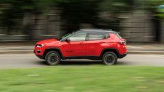 Jeep Compass 4xe Trailhawk: un momento della prova consumi