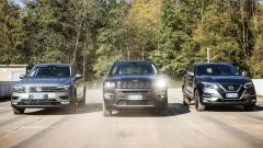 Jeep Compass vs Nissan Qashqai vs Volkswagen Tiguan in video - Immagine: 1
