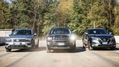 Jeep Compass vs Nissan Qashqai vs Volkswagen Tiguan