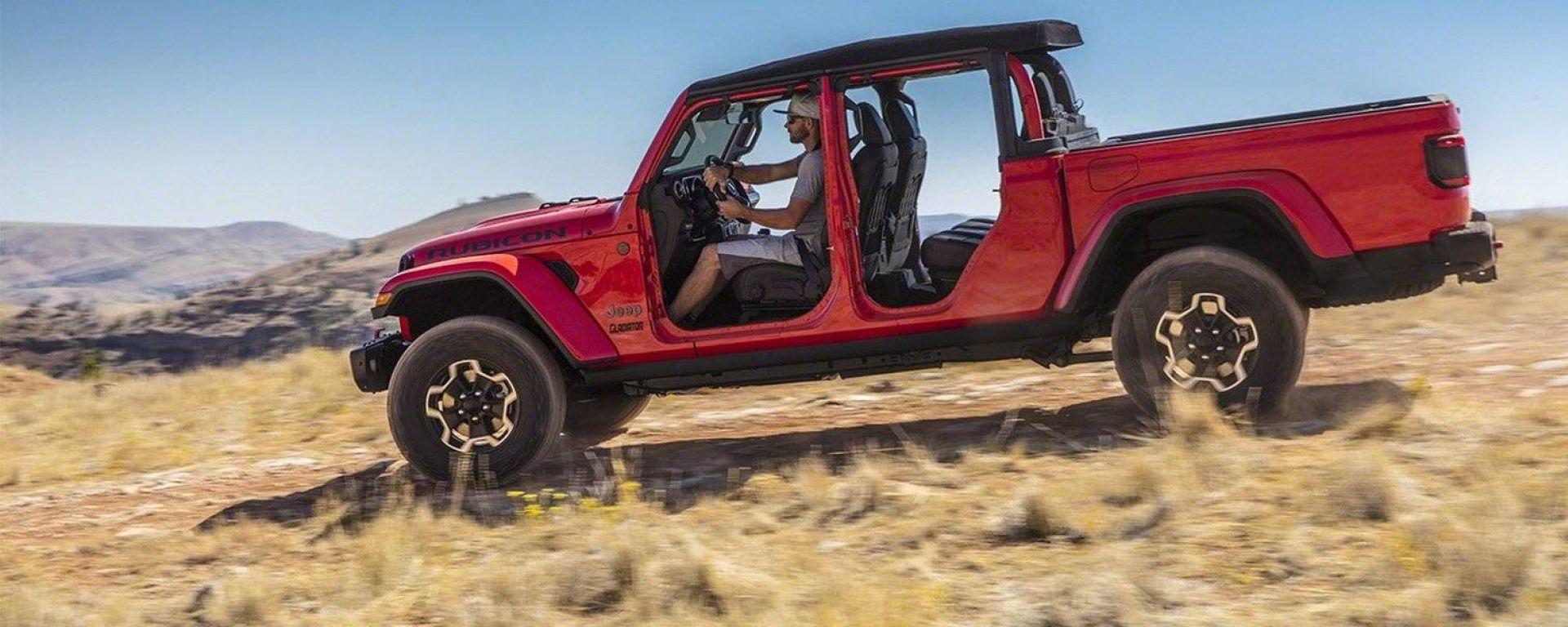 Jeep Gladiator: il pick-up su base Wrangler debutta al Salone di Los Angeles