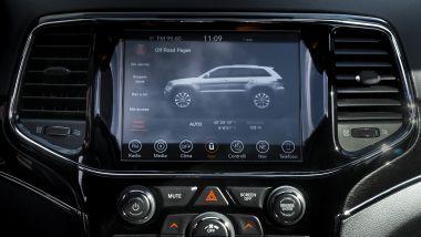 Jeep Grand Cherokee Trailhawk: il touch screen a centro plancia