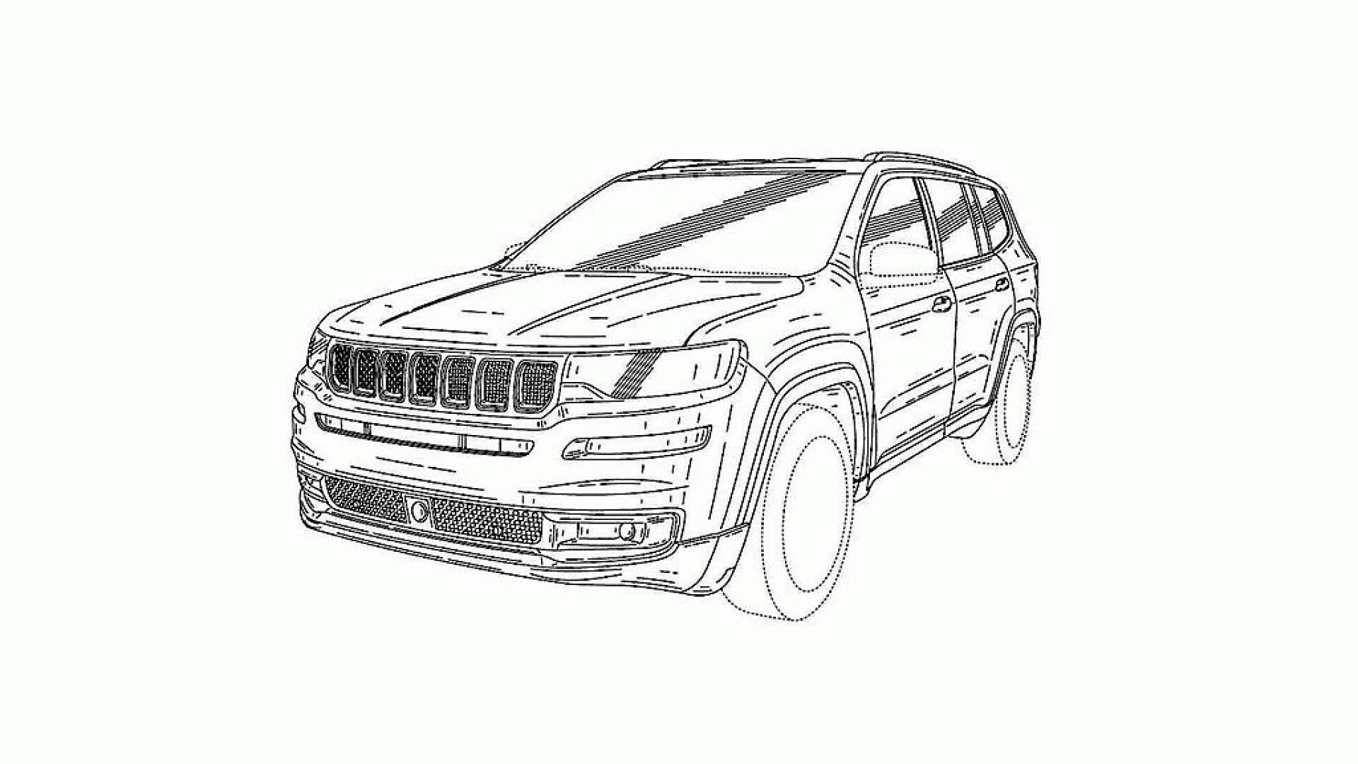 jeep grand commander  disegni e caratteristiche del suv a