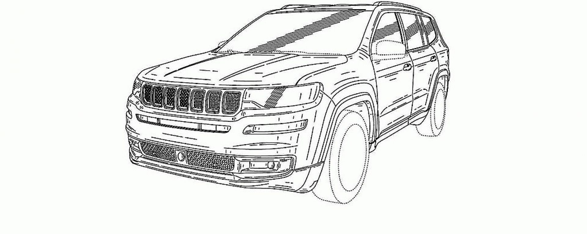Jeep Grand Commander: vista 3/4 anteriore