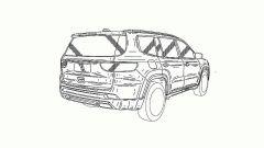 Jeep Grand Commander: vista 3/4 posteriore