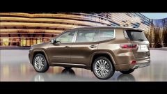 Jeep Grand Commander: vista 3/4 posteriore