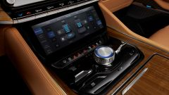 Jeep Grand Wagoneer 2021, interni: il display per la climatizzazione