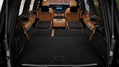 Jeep Grand Wagoneer 2021, interni: vista dal portabagagli