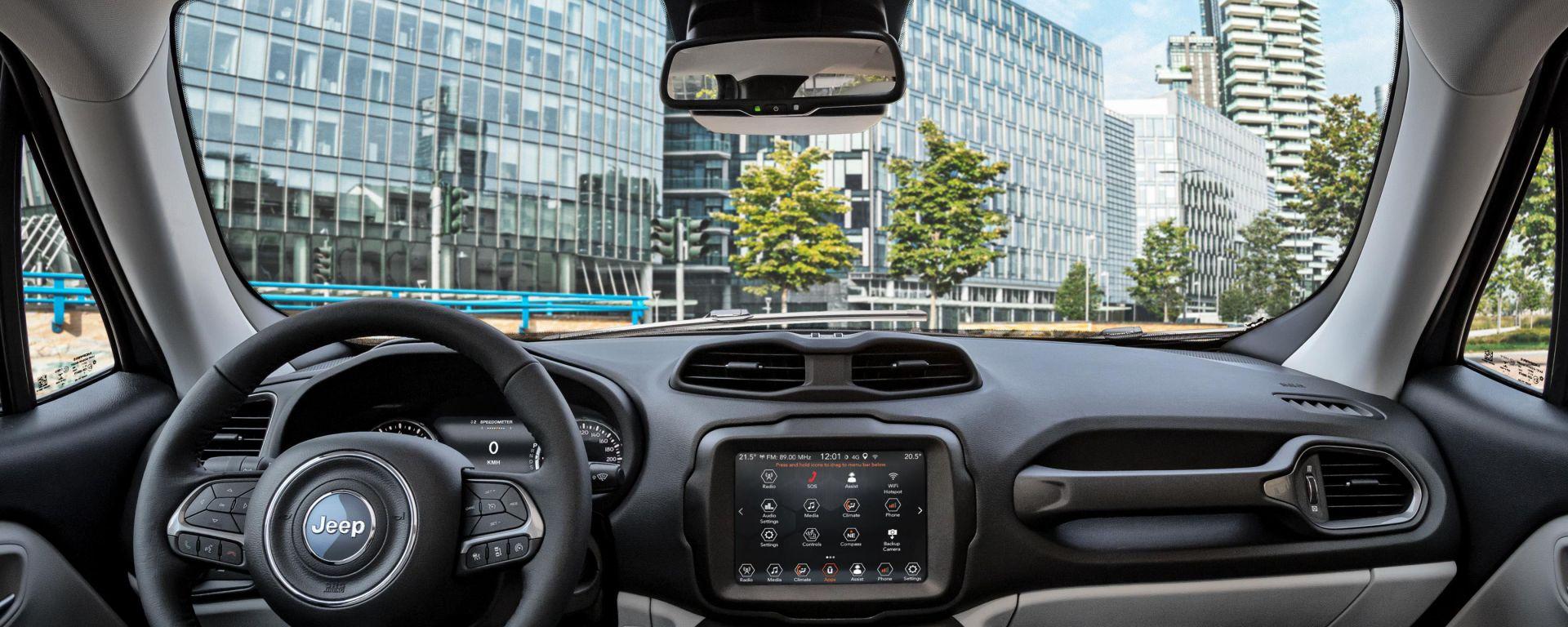 Jeep Renegade 2020: gli interni