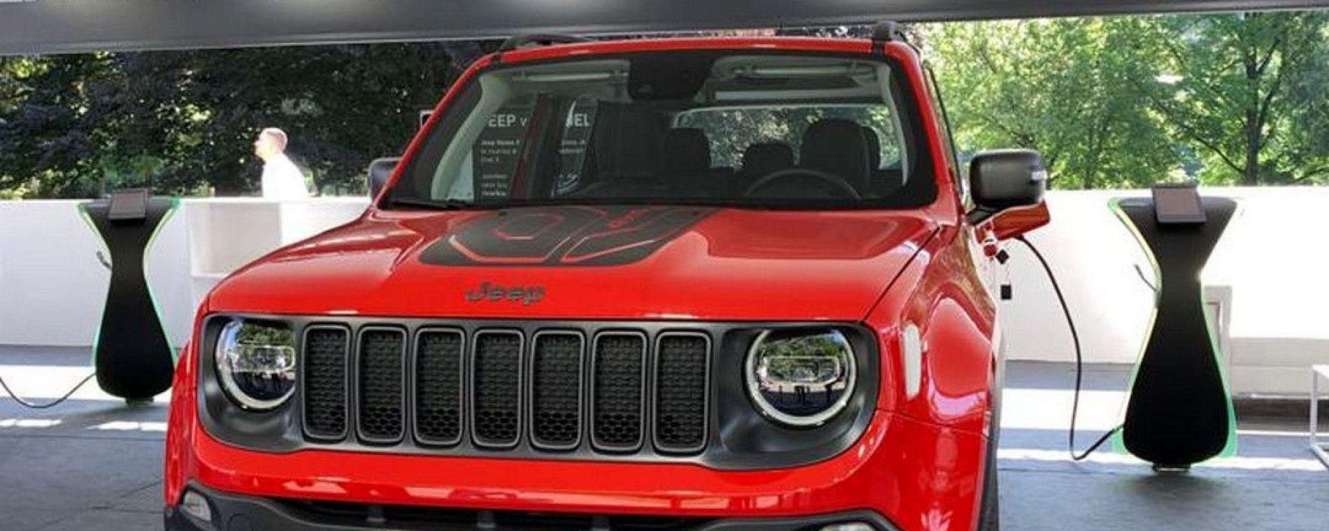 Jeep Renegade 4x4e plug-in hybrid: eccola dal vivo