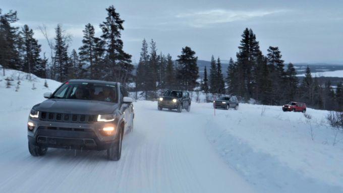 Jeep Renegade e Compass 4xe, a prova di inverno artico