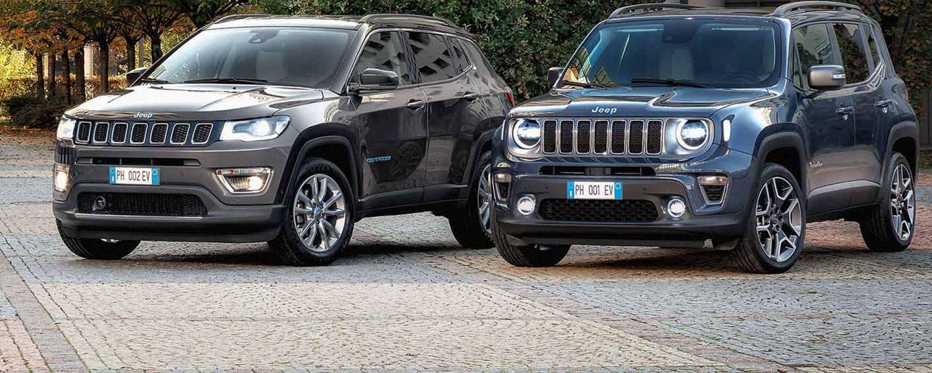 Jeep Renegade e Compass 4xe, al via le vendite (online)