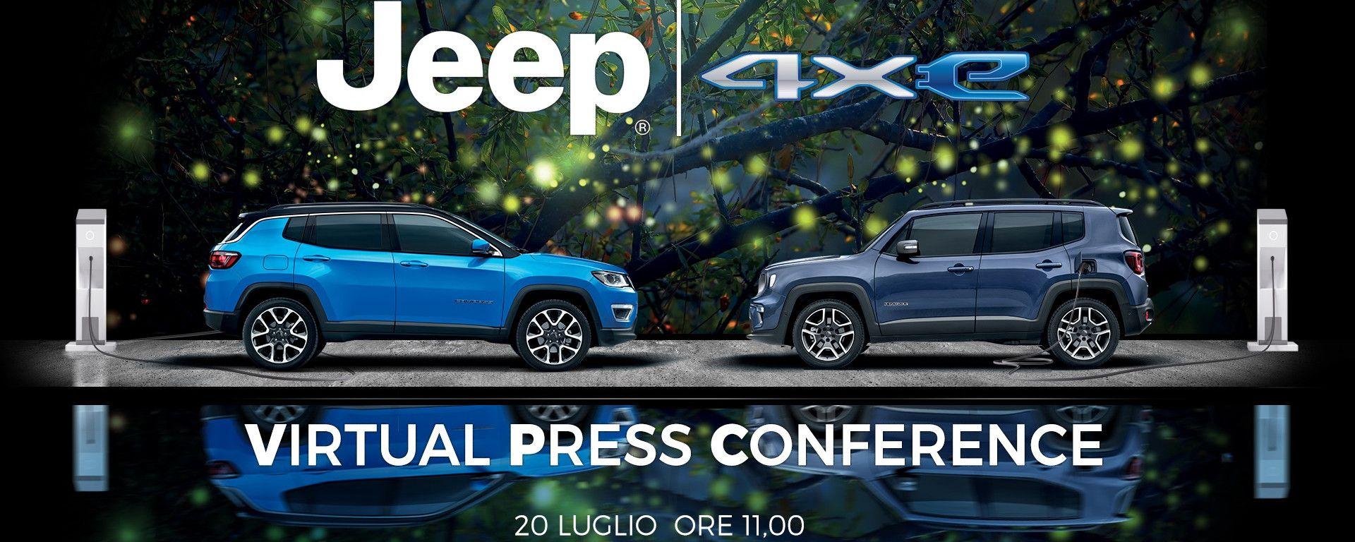 Jeep Renegade e Compass 4xe: le plug-in si svelano online