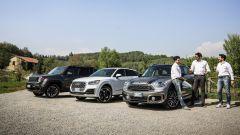 Jeep Renegade Trailhawk vs Audi Q2 S tronic quattro vs Mini Countryman Cooper SD All4 - Immagine: 1