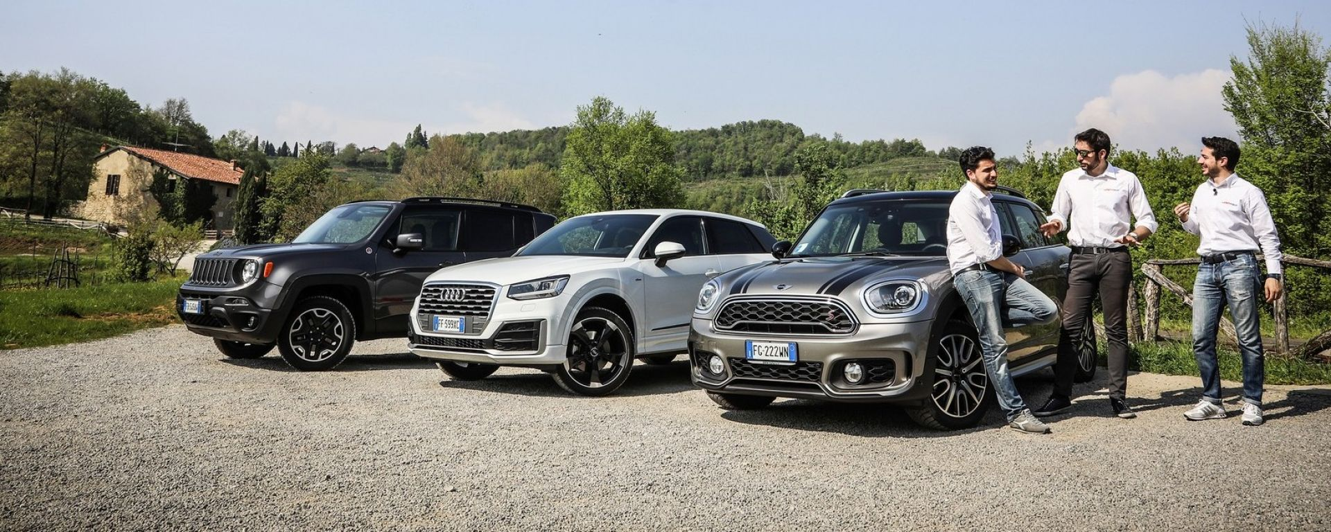 Jeep Renegade Trailhawk vs Audi Q2 vs Mini Countryman: tre modi di essere suv compatti alla moda