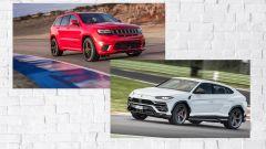Jeep Grand Cherokee Trackhawk vs Lamborghini Urus: la drag race