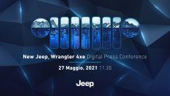 Jeep Wrangler 4xe plug-in: streaming il 27 maggio