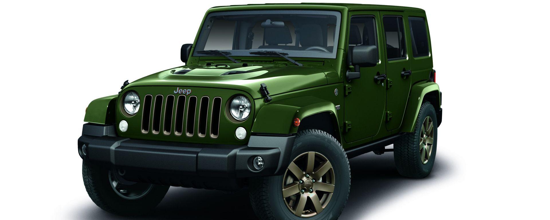 Jeep Wrangler 75th Anniversary: prezzo da 49.000 euro