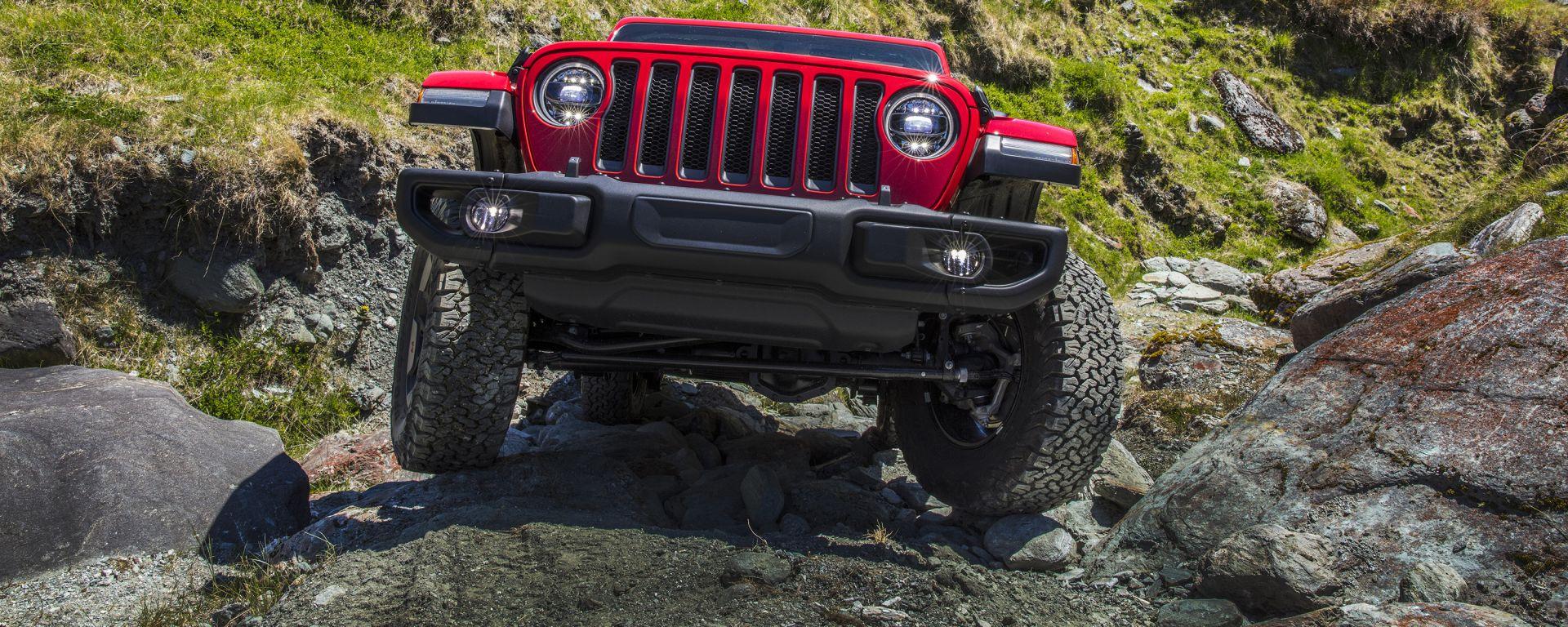 Jeep Wrangler, il frontale