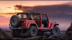 Jeep Wrangler Red Rock. vista 3/4 posteriore