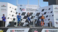 Joan Mir (Suzuki), Maverick Vinales (Yamaha) e Pol Espargaro (KTM)