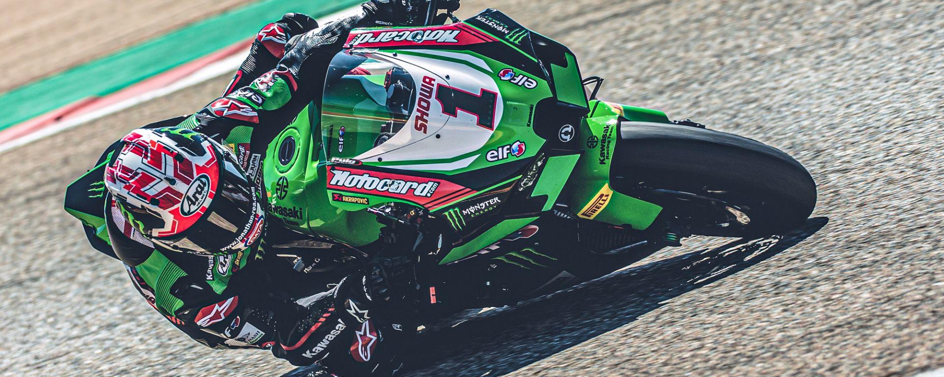 Jonathan Rea (Kawasaki) nei test di Aragon 2021