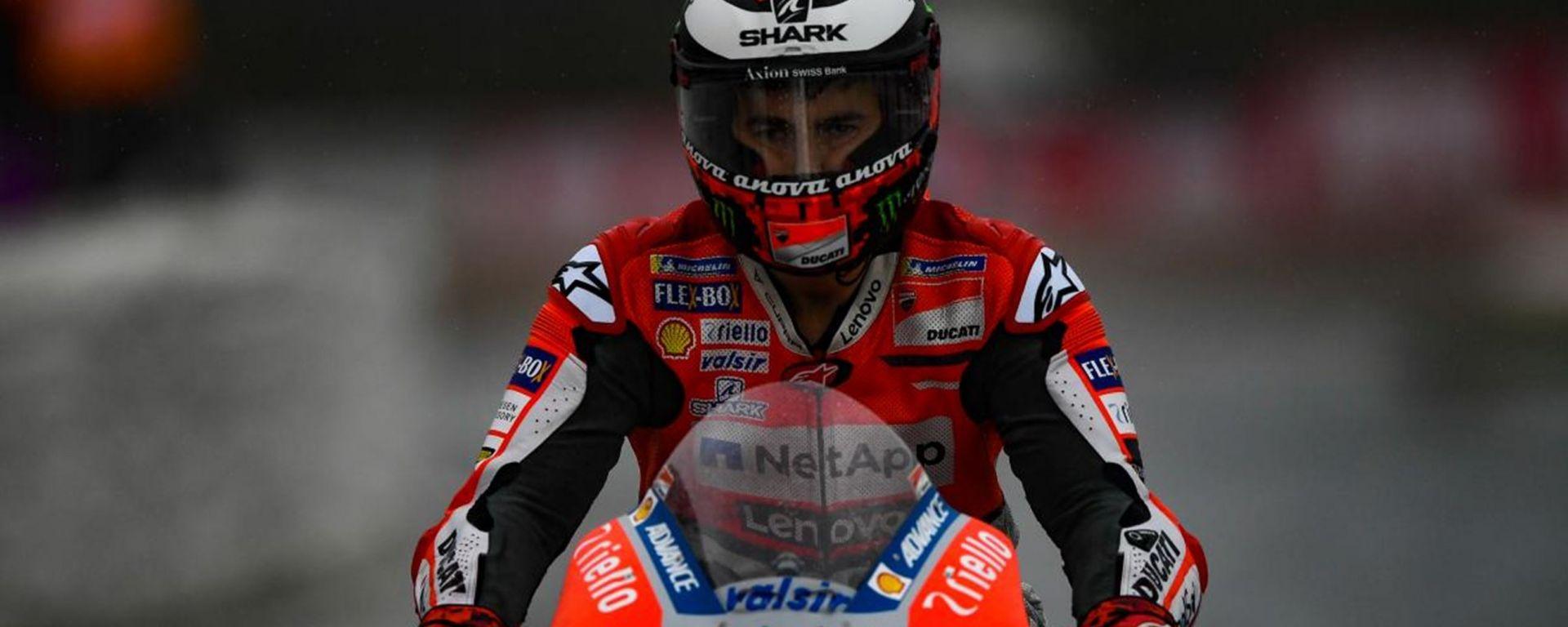 Jorge Lorenzo ai tempi della Ducati
