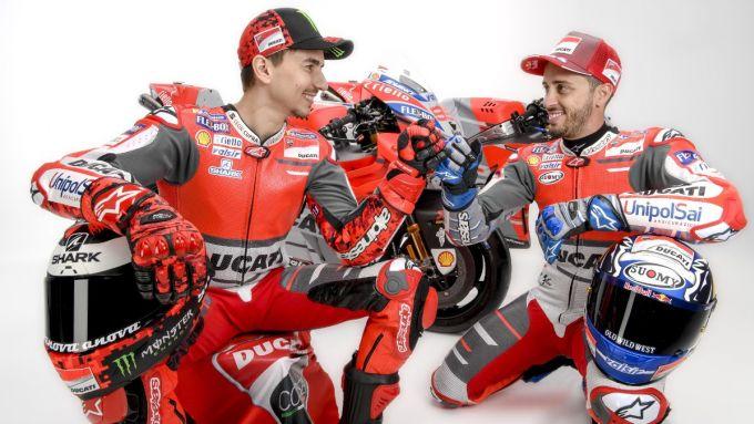 Jorge Lorenzo e Andrea Dovizioso, team Ducati MotoGP 2018