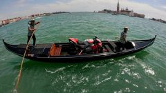 Jorge Lorenzo, la Desmosedici GP18 a Venezia