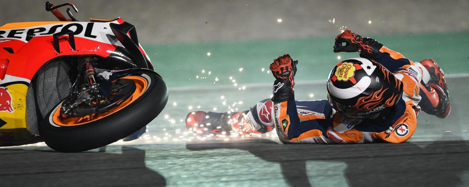 Jorge Lorenzo, che sfortuna! Costola fratturata in Qatar