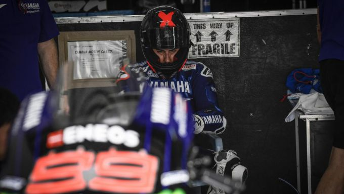 Jorge Lorenzo (Yamaha) durante i test ufficiali MotoGP di Sepang