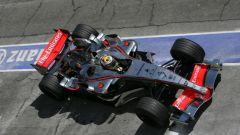 Juan Pablo Montoya con la McLaren Mercedes F1 nel 2006