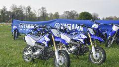 Junior Moto School: le moto della scuola sono Yamaha PW50, TT-R 50, TT-R 110, YZ85 e TT-R 125
