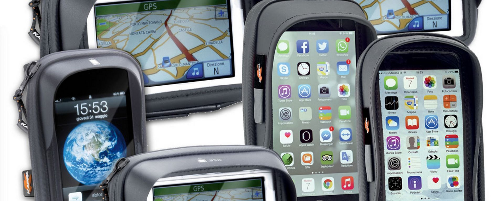 Kappa: nuovi case per smartphone e GPS