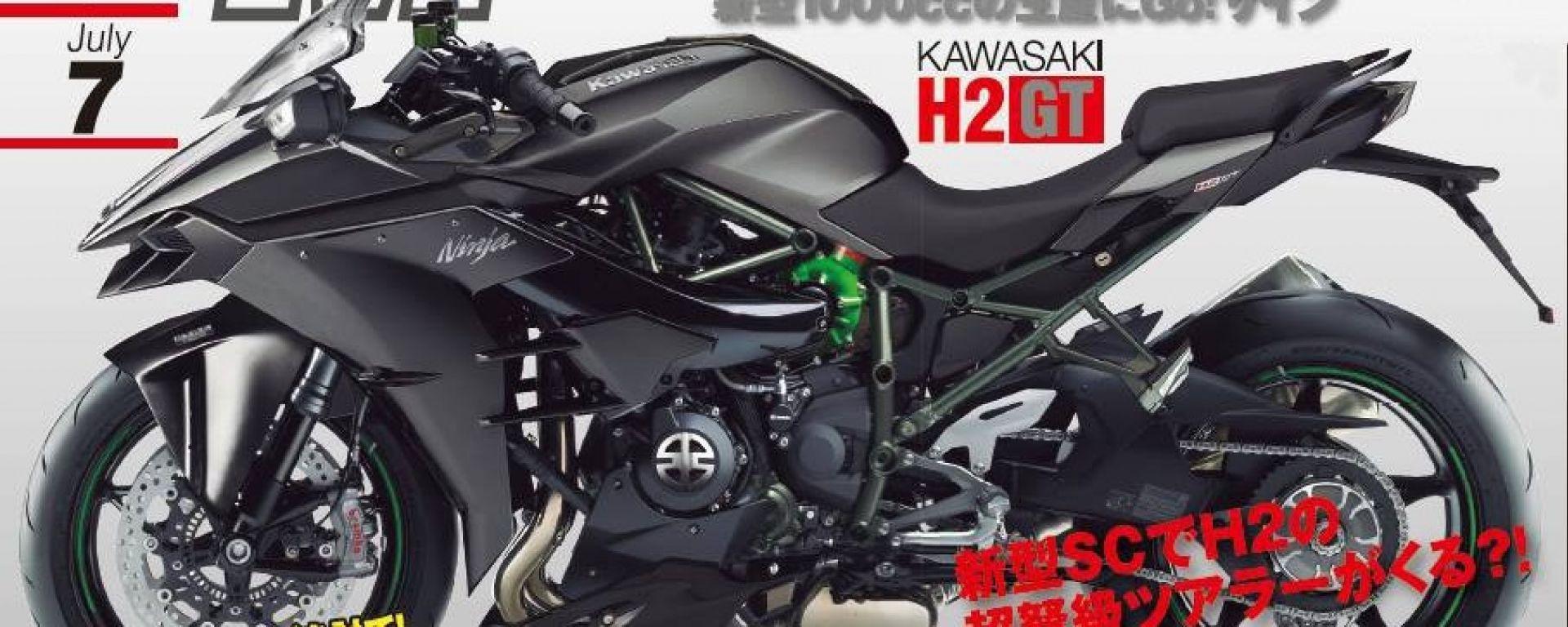 Kawasaki H2 GT: Ecco un rendering di come potrebbe essere questa