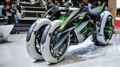 Kawasaki J Concept, quattro ruote, guida trasformabile e motore elettrico