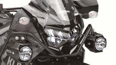 Kawasaki KLR 650, sulla Adventure i faretti supplementari sono di serie